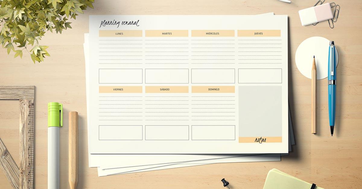 Planning semanal imprimible