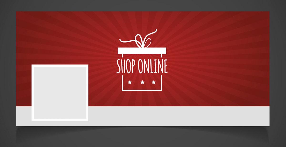 Campaña de Navidad: portada de Facebook para tienda online