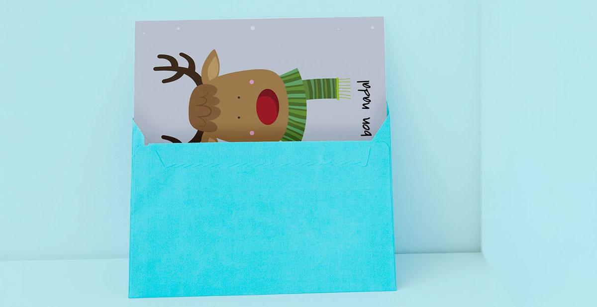 Postal navideña imprimible