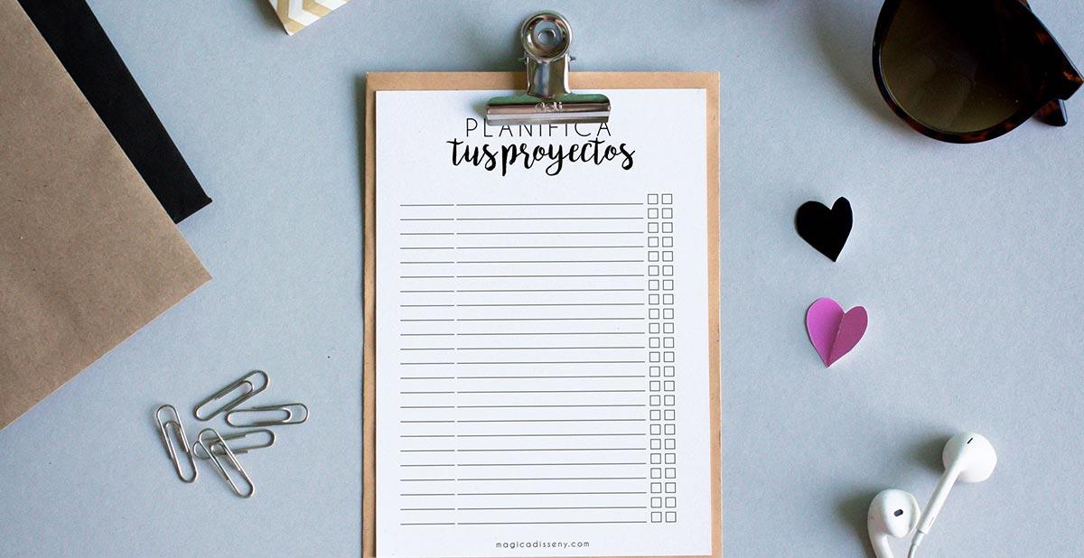Planificador imprimible para fechas límite